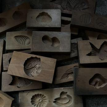 古い菓子型|木型
